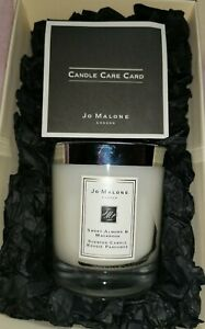 JO MALONE SWEET ALMOND & MACAROON CANDLE - SEALED - BOXED WITH GIFT BAG