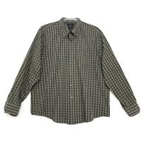 Docker's Wrinkle Free Stain Defender Shirt Mens Size XXL 2XL Plaid Long Sleeve