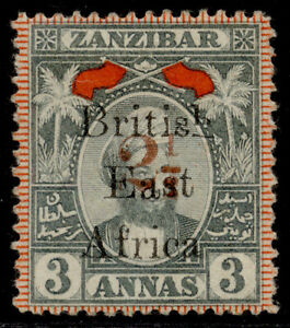 BRITISH EAST AFRICA QV SG90, 2½ on 3a grey & red, M MINT. Cat £325.