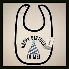 New CARTERS Bib - HAPPY BIRTHDAY TO ME - Boys - White & Blue