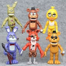 6pcs Five Nights At Freddy's FNAF Action Figures Toys Collection Playset Gifts A