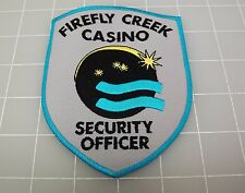 """FIREFLY CREEK CASINO Security Officer Grey & Blue PATCH BRAND NEW 4"""""""