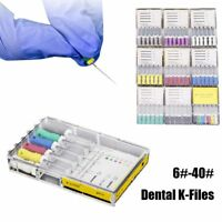 Hot Dental Endo Mani Stainless Steel Root Canal K File Reamers Hand Use 21/25mm~
