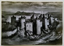 Conway Castle Caernarvonshire drawing By Alan Sorrell Postcard (P254)