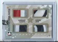 07/08 ITG Superlative All-Star Quad Patch Silver Yzerman-Gomez-Sundin-Jagr 4of9