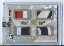 07/08 ITG Superlative All-Star Quad Patch Silver Yzerman-Gomez-Sundin-Jagr 4of9