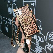 Para Samsung Galaxy Note 20 Ultra S20+ 10+ teléfono caso cubierta de lujo leopardo cuadrado