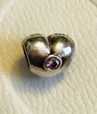 Genuine PANDORA Pink Sparkling Heart Charm 790134PCZ