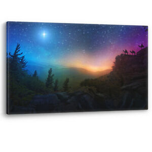 Three Wise Men Star of Bethlehem Christmas Canvas Wall Art Picture Print A0 A2