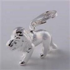 BEAUTIFUL SILVER ZODIAC SIGN - LEO THE LION CLIP ON CHARM- 925 SILVER PLATE