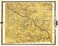 Van Buren County Iowa - Andreas 1875 - 23.00 x 28.94