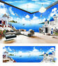 Mediterranean style theme entire room 3D wallpaper wall mural decals