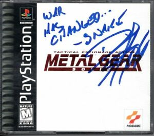 DAVID HAYTER Voice of Snake SIGNED Metal Gear Solid Playstation PS1 Video Game