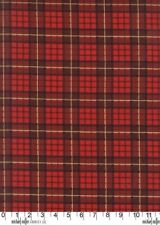 Nutcracker Plaid Cranberry Red Michael Miller Fabric FQ +More 100%Cotton