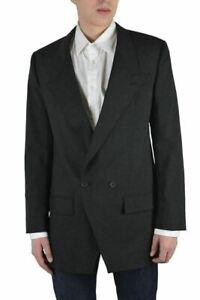 Dolce & Gabbana Men's Black Wool Double Breasted Blazer Size US 38 IT 48