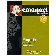 Emanuel Law Outlines: Property by Steven Emanuel (2012, Paperback, Student...