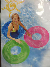 "30"" Inflatable Transparent Swim Ring / Tube 2 Colors to Choose New US Seller"