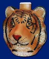 TIGER HEAD OLD WORLD CHRISTMAS WILD CAT JUNGLE FROSTED GLASS LIGHT COVER 52067