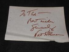 NBA HOF CCNY Nat Holman (d.95) Signed Vintage Autograph Album Page  RARE  J14
