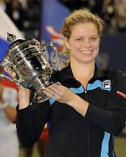 Kim Clijsters Sexy Tennis Champion with Trophy 8x10 Glossy Color Photo