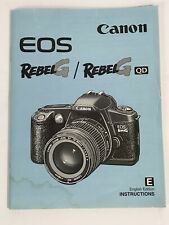 CANON EOS REBEL G SLR 35mm CAMERA OWNERS INSTRUCTION MANUAL -CANON