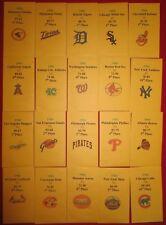 1966 Strat-O-Matic Baseball Printed Storage Envelopes with Stats and Team Logo