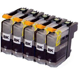 5x tinte Schwarz kompatibel mit Brother MFC-J4420DW MFC-J4425DW J4620DW J4625DW