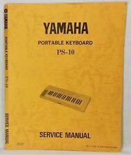 Original Yamaha PS-10 Portable Keyboard Service Manual