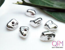 10pcs Hollow beads 7mm sterling silver 925 - beads electroforming - Chip Spacer