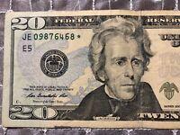 2009 $20 TWENTY DOLLAR BILL STAR ✯ NOTE RICHMOND Federal Reserve JE 09876468 ✯