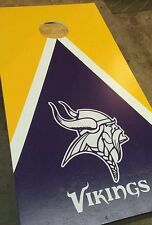 Minnesota Vikings DECALS -4 CORNHOLE Board Decals Sticker Decals -2 Free Circles