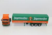 hg1221, Alter Herpa LKW Pritschen Sattelzug Scania Jägermeister  1:87 / H0