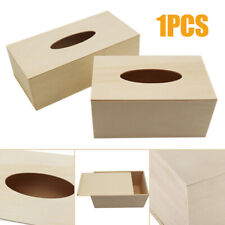 1pcs Unfinished Kids DIY Wood Tissue Box Cover Decorative Napkins Tissue Box