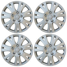 "4 pc Hub Cap ABS Silver 16"" Inch Rim Wheel Skin Cover Hubcaps Set Caps Covers"