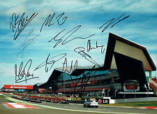 Multi Signed F1 Drivers etc RARE Autograph Silverstone 16x12 Photo AFTAL COA