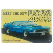 Ford Mustang Boss 429 Tin Sign Car Shed Garage Man Cave Bar Shed 30cmx20cm - New
