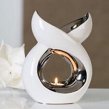 moderne huile, aromathérapie brûleur brûleurs Lago en céramique blanche /