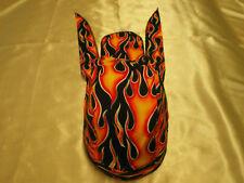 Harley Toms Flames Doo Rag Chef Hat Biker Do Rag Bandana Biker Skullcap