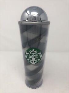 Starbucks Grey Brush Strokes Frappuccino Tumbler 24 oz 2014 - No Straw