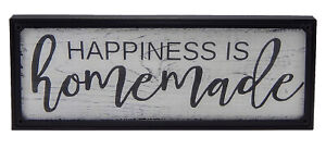 Happiness Is Homemade Farmhouse Rustic Sign Kitchen Wall Art Hanging Home Decor