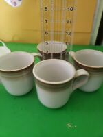 4 Noritake Stoneware Brown ombre Mugs Cups great Condition