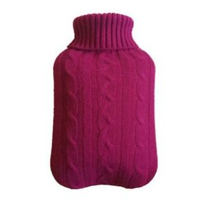 2L Hot Water Bottle Cover Warmer Heat Soft Bag Knitted Cover Multicolor #E18