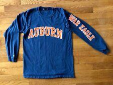 Auburn Tigers War Eagles Blue Long Sleeve T-Shirt Women's Size Small