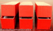 3 Coin Storage Box Red 9x2x2 Holder SINGLE ROW for 2x2 Flip Snap Capsule Penny