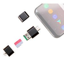 PEARL Mini-Cardreader & USB-Stick, für microSD(HC/XC) bis 128 GB, USB A & C