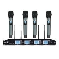 Professional UHF PLL 4 Handheld Wireless karaoke Microphone Mics system