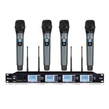 Professional UHF PLL 4 Handheld Wireless karaoke Microphone Mics system