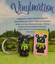 "Disney Vinylmation 1.5"" Park Set 1 Junior Jr Keychain w/ Sticker Slime Bubbles"