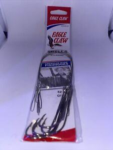 EAGLE CLAW  SNELLS NYLAWIRE  SZ 4 QTY 5 FREE & PROMPT SHIPPING