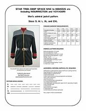 Star Trek Sewing Pattern - Starfleet admiral jacket - DS9, Nemesis (men's)